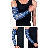 1Pcs Uv Protection Cooling Arm Sleeves - Sun Sleeves for Men &Amp; Women. Perfect for Cycling, Driving, Running, Basketball : Blue, M