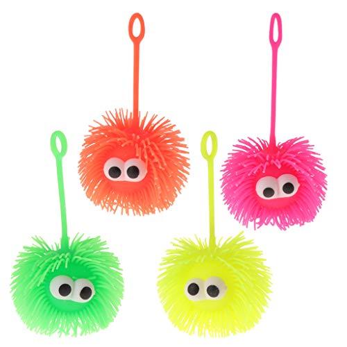 Lamdoo Creative Igelball Stressabbau, konvexes Auge, lustiges blinkendes Smiley-Spielzeug -