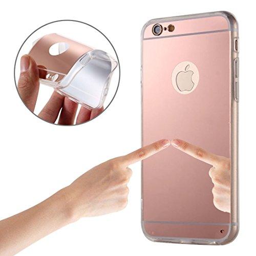 Phone case & Hülle Für IPhone 6 / 6s, Galvanisierungsspiegel TPU Schutzhülle ( Color : Gold ) Pink