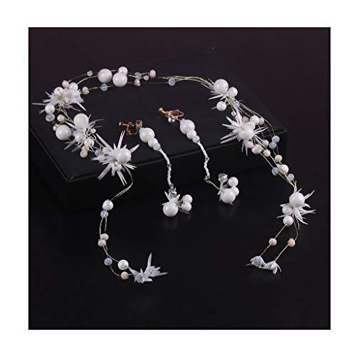 LYM Bandeau Fleur Guirlande Ornement Fleur Fille Accessoires De Cheveux De Vacances Chapeaux Ornement (Couleur : B)