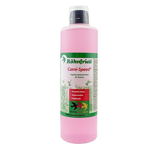 Röhnfried - Carni-Speed Konzentrat (10 ml/ Liter Trinkwasser) | Mit L-Carnitin für den Fettstoffwechsel der Tauben | Regeneration & Flugfreude (500 ml) -