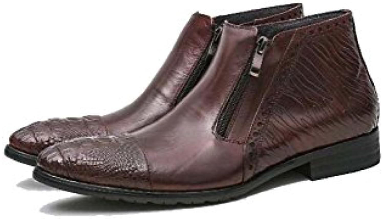 MYI Herren Stiefeletten Schuh Pure Single Boots BusinessAnzug Herren Stiefel Komfortable Atmungsaktive 37 Yards