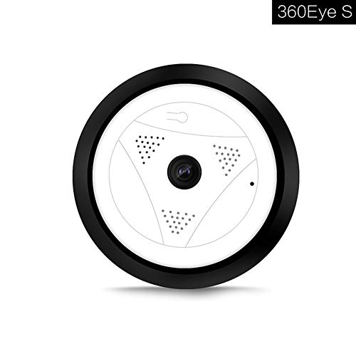 ZYLFN 360 Grados cámara panorámica IP, inalámbrico Domo Audio Video WiFi HD Pescado-Ojo Lente Gran Angular visión Nocturna VR cámaras de vigilancia de Seguridad del hogar Sistema