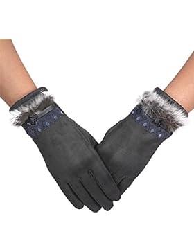 FAMILIZO Las mujeres calientes del invierno Guante de pantalla táctil guantes gruesos Finger manopla completa