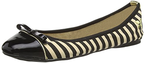 Butterfly Twists Cara, Ballerine Donna Black Tan