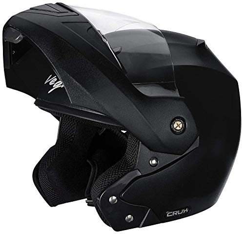 Vega Crux Flip Up Helmet in Black