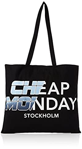Cheap Monday Unisex Adults' Rapid Tote Future Canvas and Beach Tote Bag Black (Black)