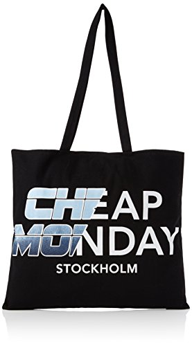 Price comparison product image Cheap Monday Unisex Adults' Rapid Tote Future Canvas and Beach Tote Bag Black (Black)