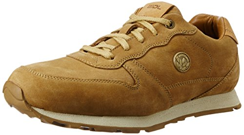 Woodland Men's Camel Leather Sneakers - 9 UK/India (43 EU)  available at amazon for Rs.1977