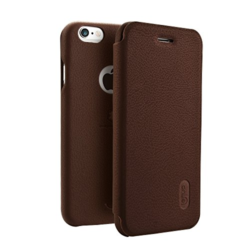 Wkae Lenuo PU + PC Litchi Textur Horizontale Flip Leder Tasche mit Card Slots für iPhone 6 & 6s ( Color : Black ) Brown