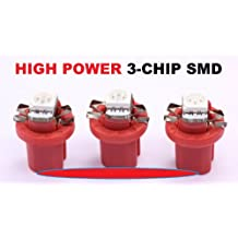 3 x rote high Power SMD-LED Tacho Beleuchtung VW T3 Bus - Golf 2 - Polo 86c rot