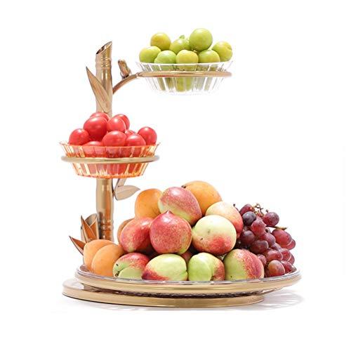�se Ständer Lagerung Inhaber, Brotkorb und Obstkorb für Wohnzimmer, 3 Tier Obst/Gemüse Metall Korb Rack Display-Ständer ()