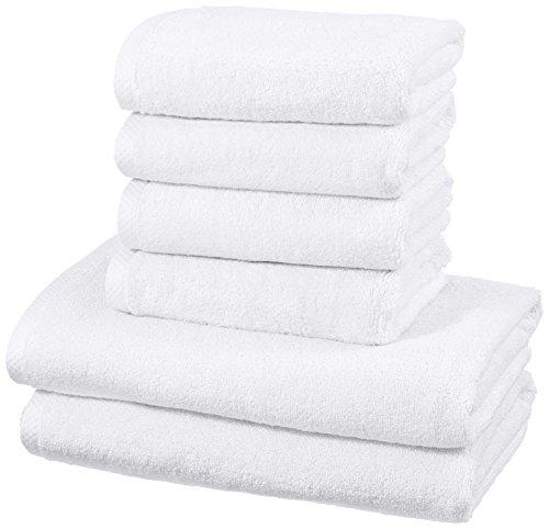 amazonbasics-set-di-asciugamani-ad-asciugatura-rapida-2-pezzi-2-teli-bagno-4-asciugamani-bianco