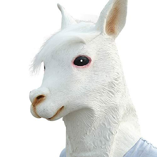 Alpaka-Hood, Halloween Tier Tier-Maske, Party Rollenspiele, Simulation Haube Aus Latex