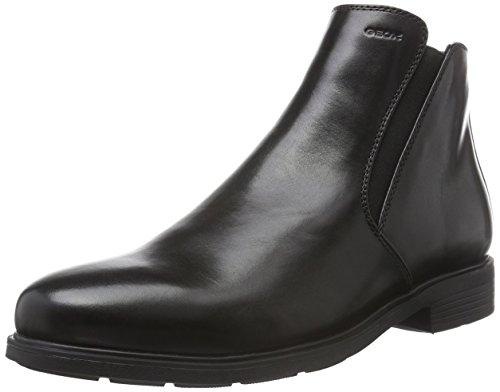 Geox Herren U Dublin D Chelsea Boots, Schwarz (BLACKC9999), 45 EU