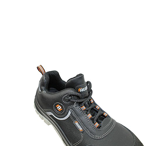 Auda chaussures de sécurité norme s3 sRC chaussures berufsschuhe businessschuhe plat noir Noir - Noir
