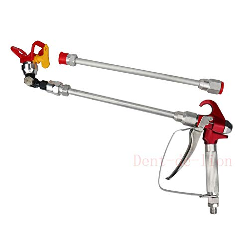 Airless pistola pintura alta presión + boquilla asiento para Titan/Wagner/Graco + 2x 30cm tija extensión para pulverizador Airless boquilla alargador pistola pintura