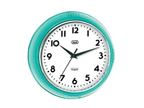 Trevi Retro Wall Clock, Plastic, Turquoise: Amazon.co.uk: Kitchen U0026 Home