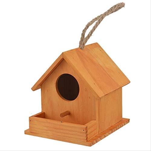 XYBB Vogelnest Vogel Haus Holz Vogel Haus Nest Papagei Zucht Dekorative Käfige Hamster Nest Home Süße Haustier Zubehör Holz Papagei Vogel Käfige Rundes Fenster