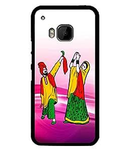 Fuson Designer Back Case Cover for HTC One M9 :: HTC One M9S :: HTC M9 (Punjab Punjabi Dance Disco Village)