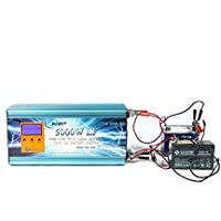 Inverter Onda Pura 5000W Pico 10000W 12V con caricatore 80Amp
