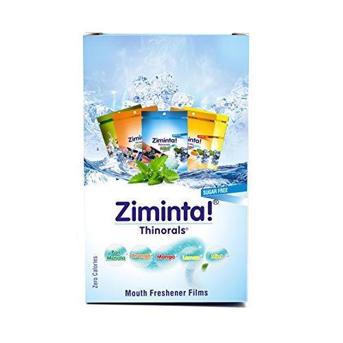 Ziminta Mint, Orange, Lemon, Mango & Pan Masala Flavoured Mouth Freshener Easily Soluble Digestive Dispensable Strip (Blue, 30 Strips) - Pack of 10 (2 Pack of each flavour)