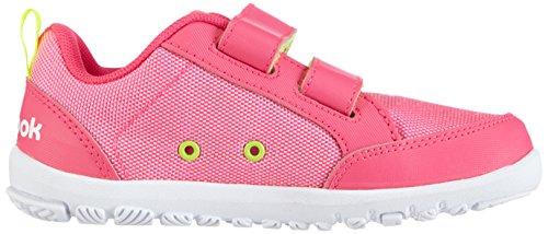 Reebok Ventureflex Chase, Baskets Basses fille Rose - Pink (Solar Pink/White/Solar Yellow)