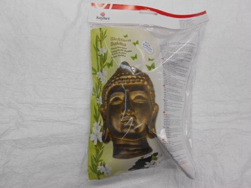 Rayher Hobby 36013000 Gießform ca. 23 x 18 cm, Buddha 20 cm, lebensmittelecht, frost- und hitzebeständig, gießen Kreativ-Beton, Raysin-Gießpulver, Wachs usw