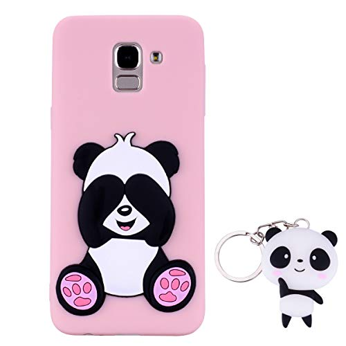HopMore Panda Funda Samsung Galaxy J6 Plus J6+ 2018