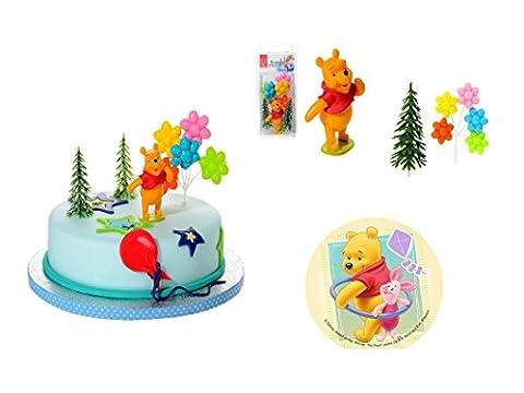 Gâteau décoration Winnie l'ourson 5teiligtortenaufleger 1Anniversaire anniversaire d'enfant Décoration de gâteau