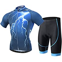 YOUJIA Hombres Cómodo Conjunto de Ropa Bicicleta / Ciclo / Ciclismo Maillots Jersey & Pantalones Acolchados