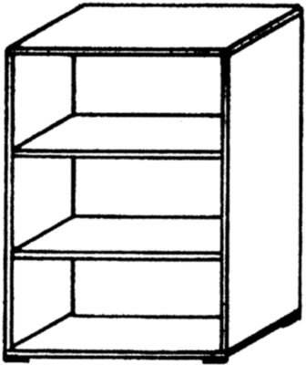 VERA Büroregal - 2 Fachböden, 800 mm breit - lichtgrau - Aktenregal Büroregal Holzregal Holzregale Ordnerregal VALERIE VALERIE Büromöbelprogramm Regalwand