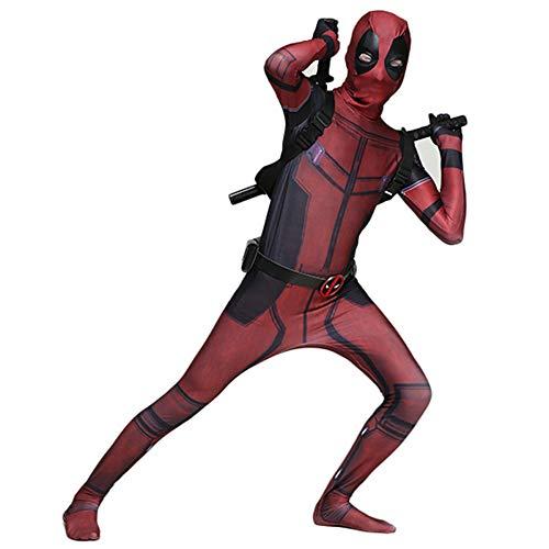 GIFT ZHIZHUXIA Marvel Deadpool Cosplay Kostüm Erwachsene Elastische Gürtelschnalle Strumpfhosen Film Performance Kostüme Kostüm Body Offizieller SpiderMan (Farbe : Red, größe : XXL)