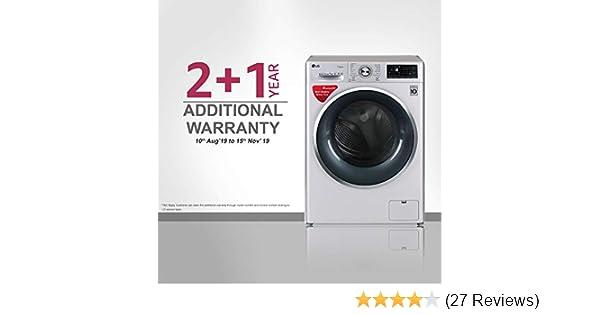 LG 7 kg Inverter Fully-Automatic Front Loading Washing Machine  (FHT1207SWL ALSPEIL, Silver, Inbuilt Heater)