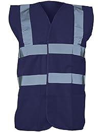 Yoko Unisex Premium Hi-Vis Waistcoat Vest / Jacket (L) (Navy Blue)