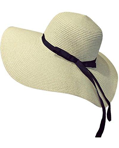 SUNNYME Damen Beachwear Sun Streifen Stroh Sonnenhut