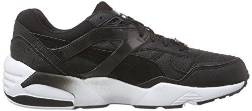 Puma R698 Mesh-Neoprene Jr, Sneakers basses mixte enfant Noir - Schwarz (black-dark shadow-white 07)