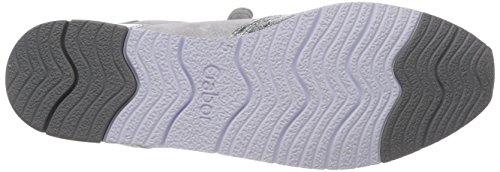 Gabor 84.323-61- Damenschuhe Sneaker, Weiß, Absatzhöhe: 15 MM Mehrfarbig (Silber/Ice)