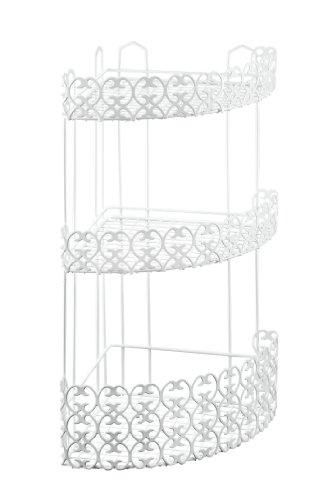 Metaltex Florenz - Mensola angolare da bagno, 3 ripiani