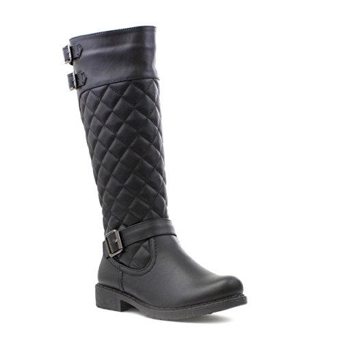Cushion Walk Womens Quilted Riding Boot in Black - Size 6 UK...