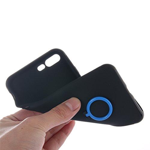 Hülle für iPhone 7 plus , Schutzhülle Für iPhone 7 Plus Trennbare Crazy Horse Texcture Horizontale Flip Reißverschluss Ledertasche mit Card Slot && Brieftasche & Foto Frame & Lanyard ,hülle für iPhone Dark blue