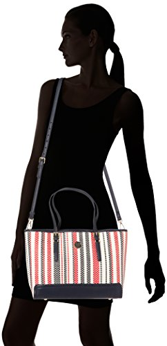 TOMMY HILFIGER AW0AW03932 HONEY TOTE SAC ET POCHETTE Femme Rouge (Pu Woven Rwb)