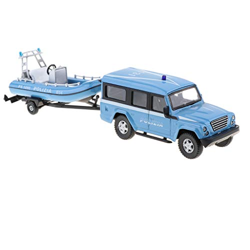 F Fityle 1:43 Legierung Diecast Pull Back Auto Kletterwagen LKW mit Schlepper Fahrzeuge Spielzeug - Blau