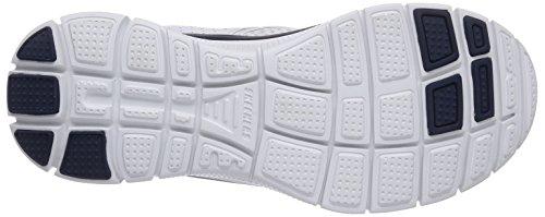 Skechers Flex AdvantageMaster Plan, Chaussons Sneaker Homme Blanc (Wnv)