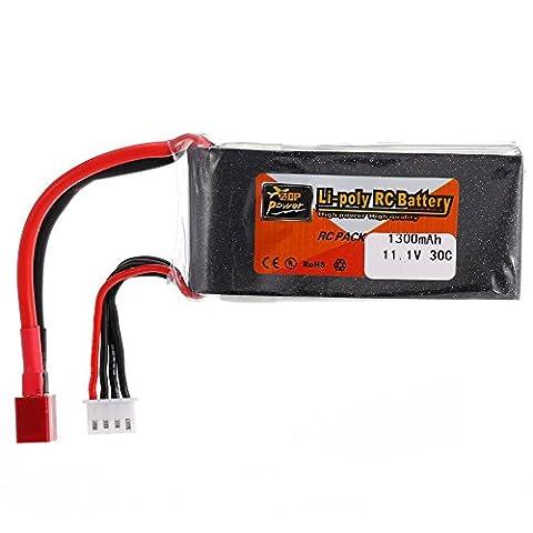 Goolsky Zop Power 3 s 11.1 v 1300mAh 30C t plug LiPo batterie pour QAV250 H210 LS180 FPV Racing Quadcopter RC Voiture Bateau