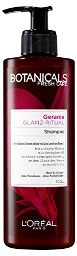 Botanicals Haarshampoo Fresh Care Geranie Glanz-Ritual, Shampoo für glanzloses oder coloriertes Haar, Haarpflege ohne Silikon, 1er Pack (1 x 400 ml)