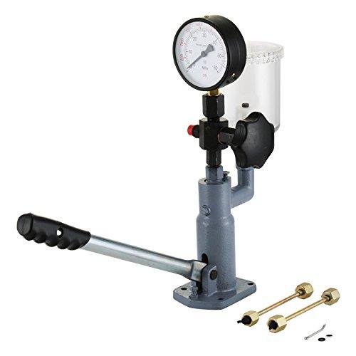 Preisvergleich Produktbild Ambesten Diesel Injector Nozzle Tester Kraftstoff-Test 400Bar / 6000PSI Hochleistungsdieselinjektordüse Tester mit Doppelskala zur Einstellung des Einspritzdüsendrucks
