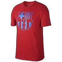 Nike Fcb B Nk Tee Crest 2 Camiseta de Manga Corta Fc Barcelona, Niños, Rojo (Gym Red), XS