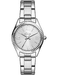 s.Oliver Damen-Armbanduhr Analog Quarz Edelstahl SO-3082-MQ