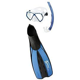Maschera per Snorkeling Snorkeling Set per Adulti Odoland 2-in-1 Set Snorkel Maschera Subacquea Anti-Fog e Dry Snorkel
